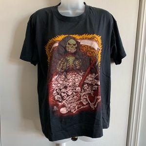 Vintage 80s Grim Reaper Skulls Tee